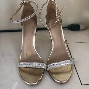 Aldo Sequin Strappy Heels Sandals